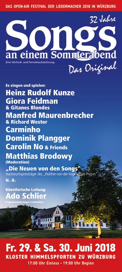 Songs an einem Sommerabend - das Original 2018 in Würzburg (Kloster Himmelspforten)